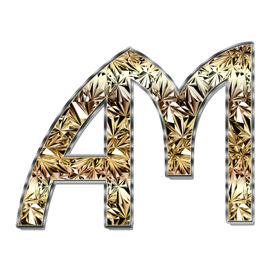 am alphabet logo
