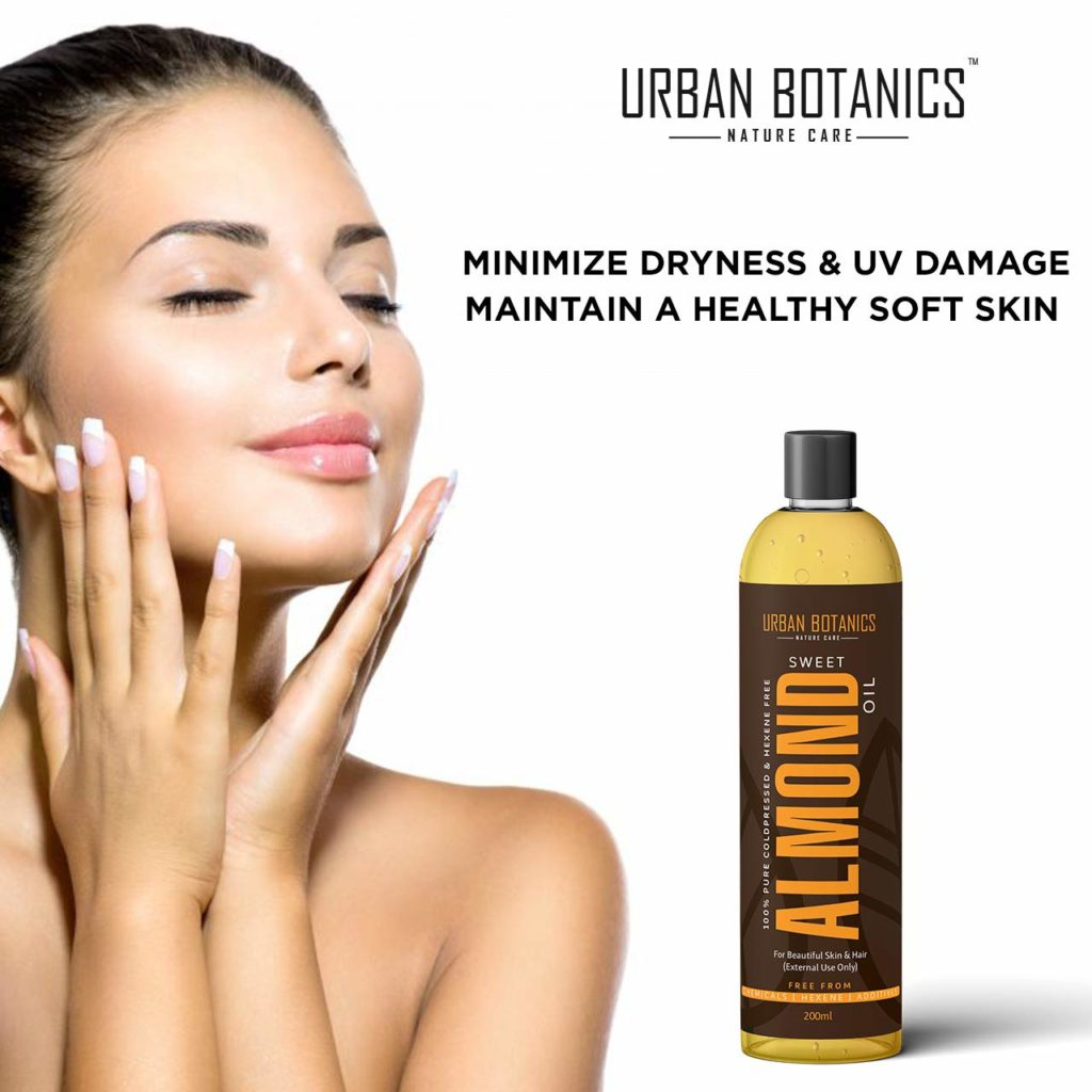 100% Pure Cold Pressed Sweet Almond Oil